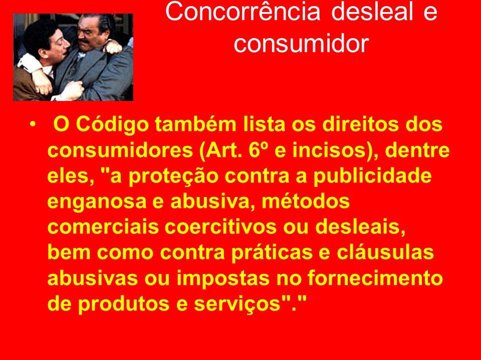 Concorrência desleal e consumidor