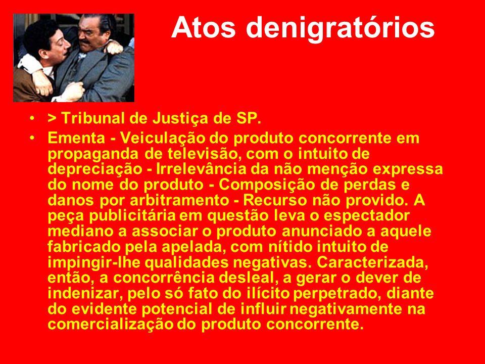 Atos denigratórios > Tribunal de Justiça de SP.