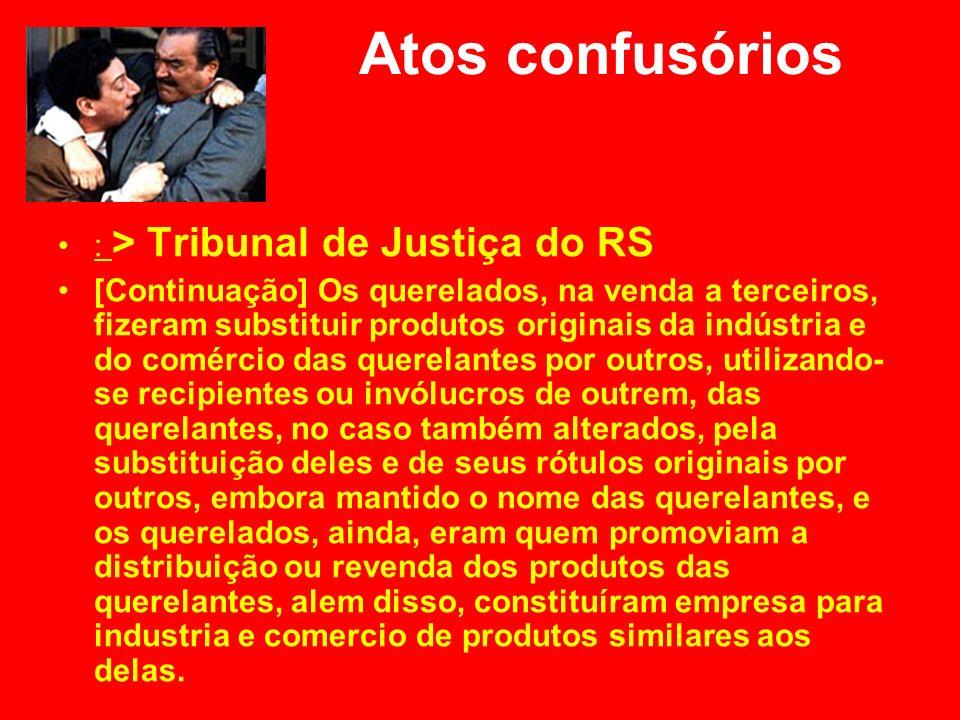 Atos confusórios : > Tribunal de Justiça do RS