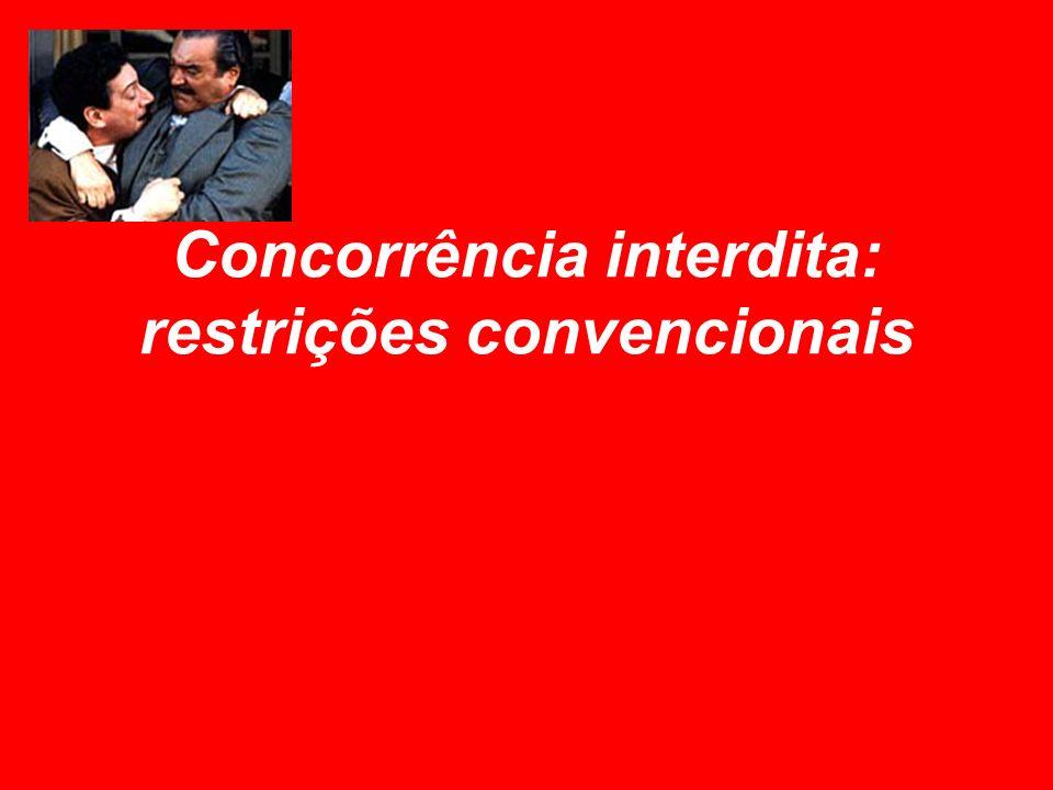 Concorrência interdita: restrições convencionais