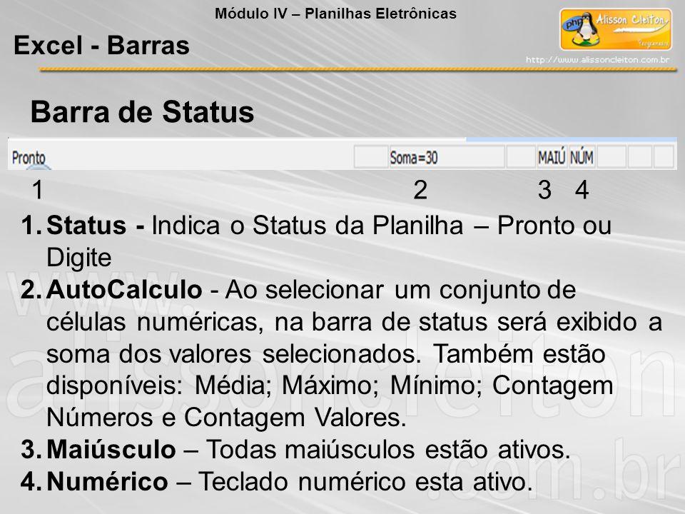 Barra de Status Excel - Barras 1 2 3 4