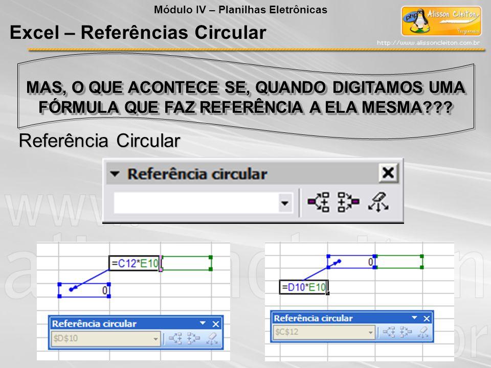 Excel – Referências Circular