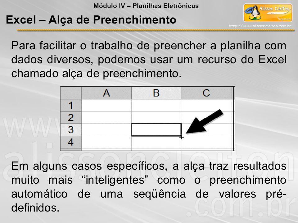 Excel – Alça de Preenchimento