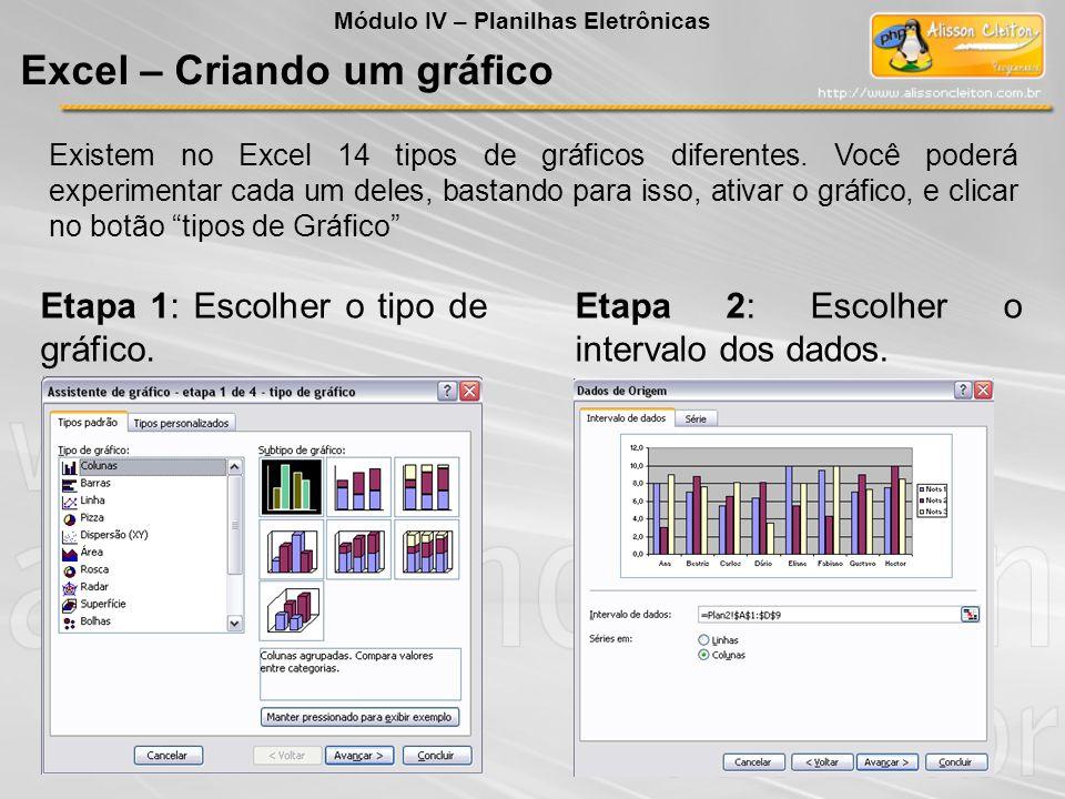 Excel – Criando um gráfico
