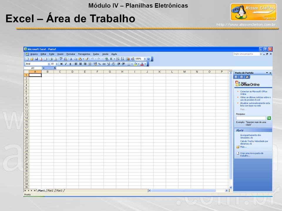 Excel – Área de Trabalho