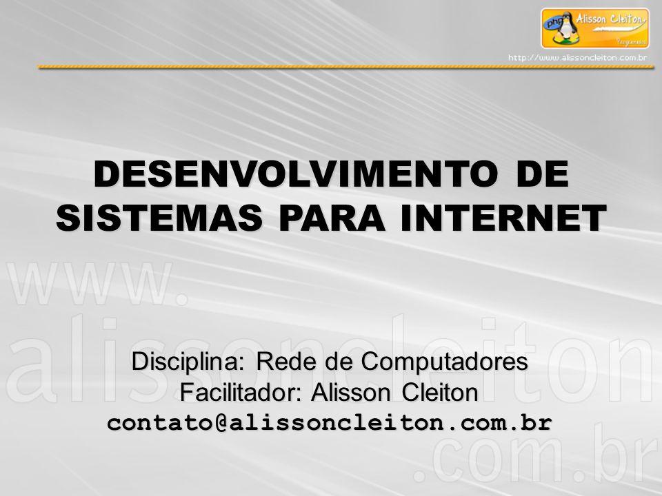 DESENVOLVIMENTO DE SISTEMAS PARA INTERNET