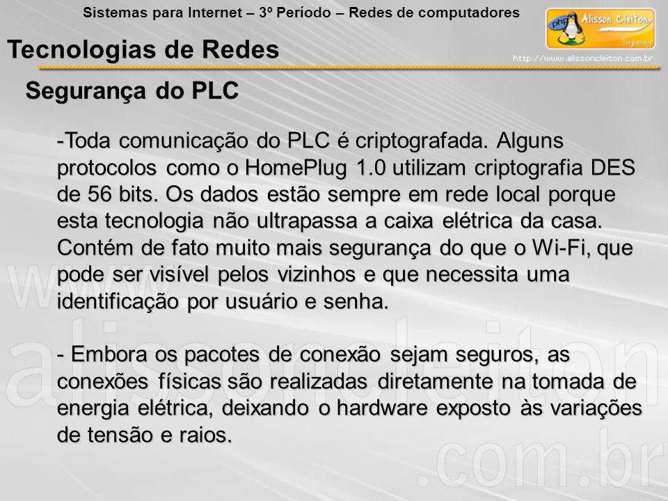 Tecnologias de Redes Segurança do PLC