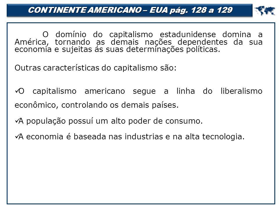 CONTINENTE AMERICANO – EUA pág. 128 a 129