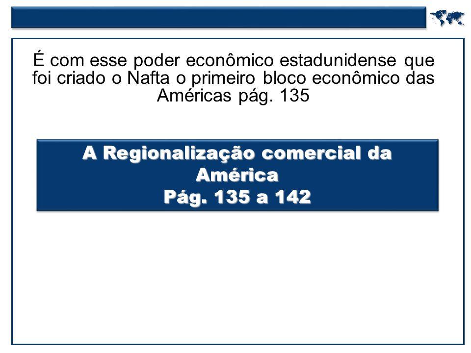 A Regionalização comercial da América