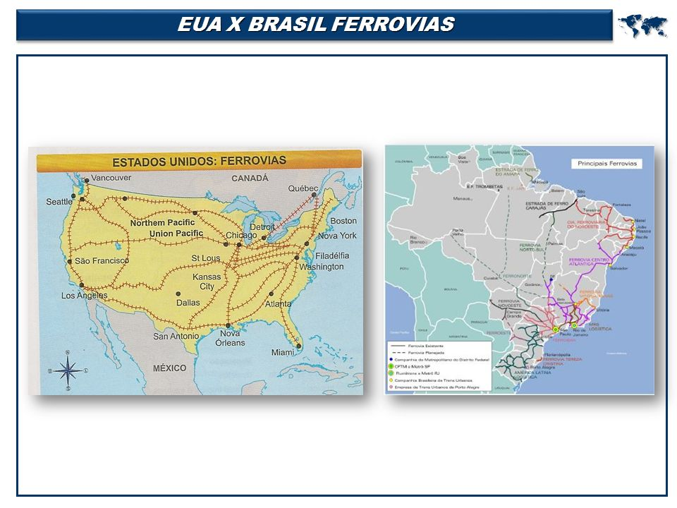 EUA X BRASIL FERROVIAS 