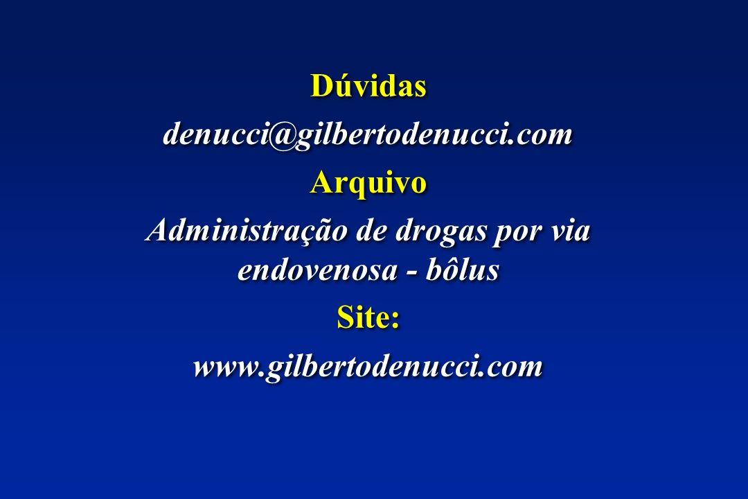 Administração de drogas por via endovenosa - bôlus