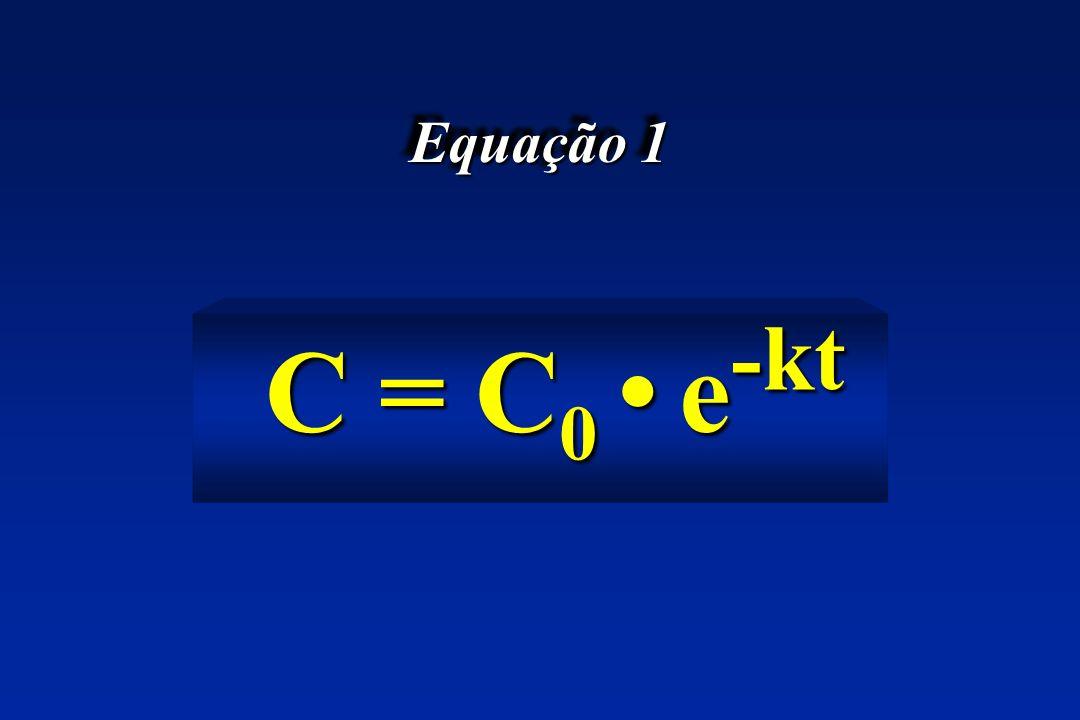 Equação 1 C = C0e-kt