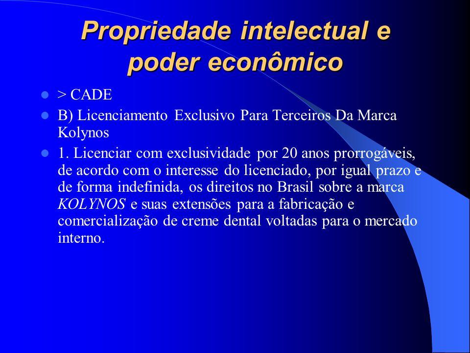 Propriedade intelectual e poder econômico