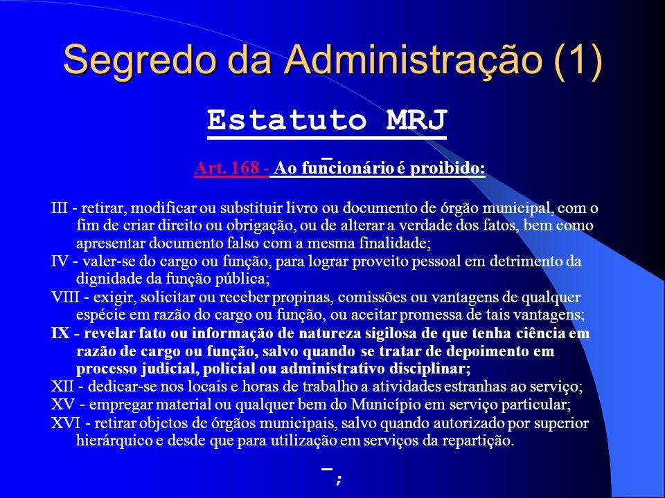 Segredo da Administração (1)