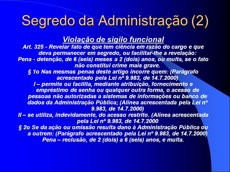 Segredo da Administração (2)