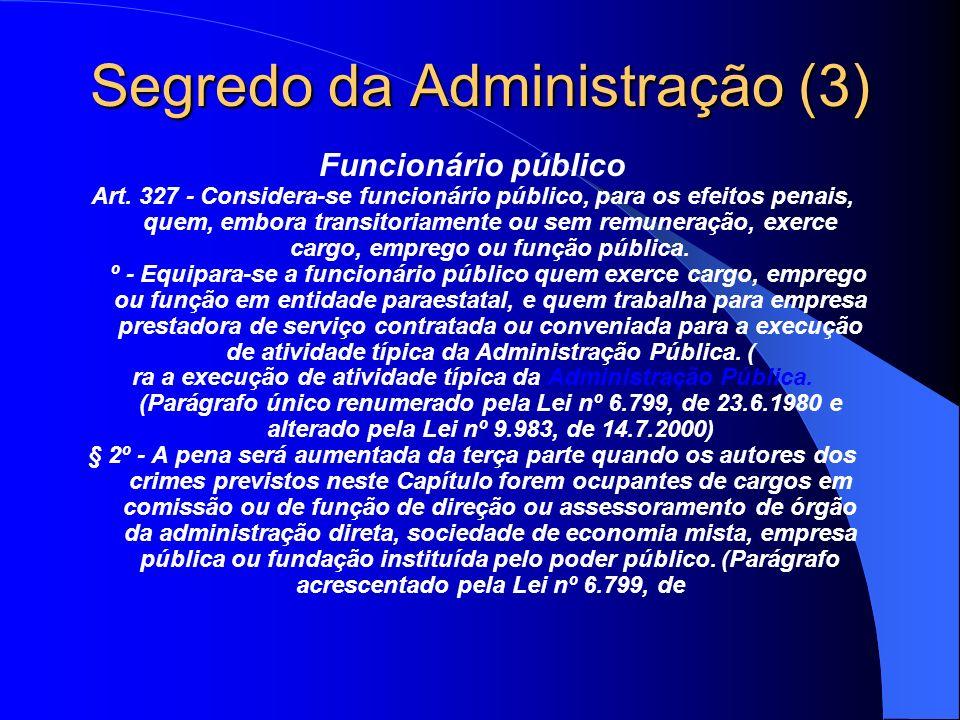 Segredo da Administração (3)