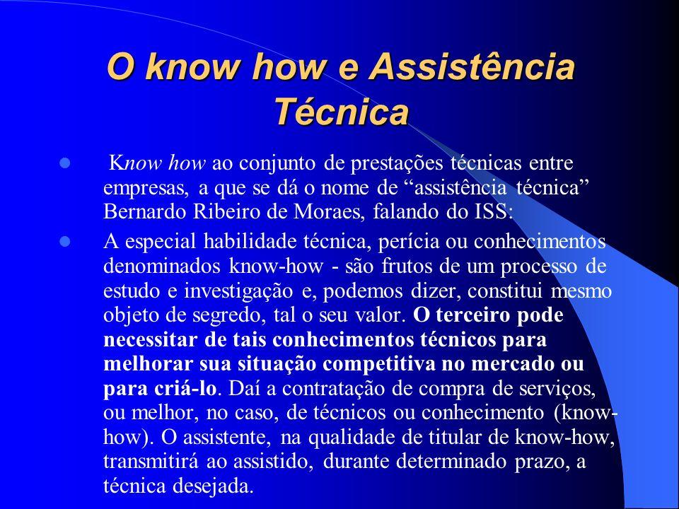 O know how e Assistência Técnica