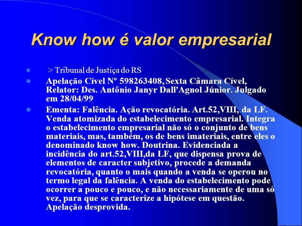 Know how é valor empresarial