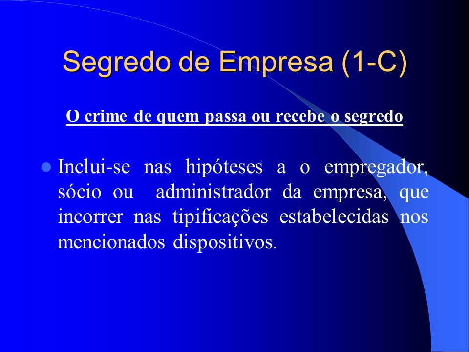 Segredo de Empresa (1-C)