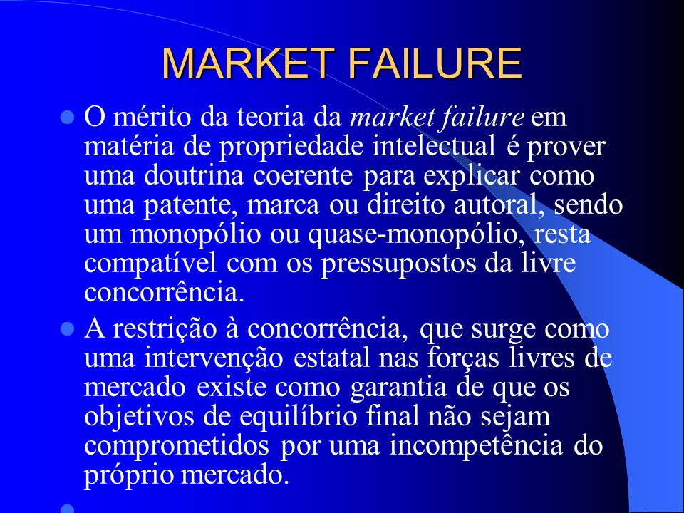 MARKET FAILURE