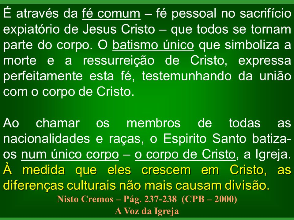 Nisto Cremos – Pág. 237-238 (CPB – 2000)