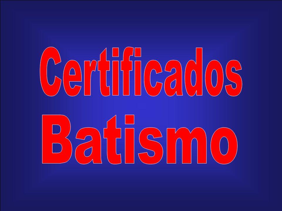 Certificados Batismo