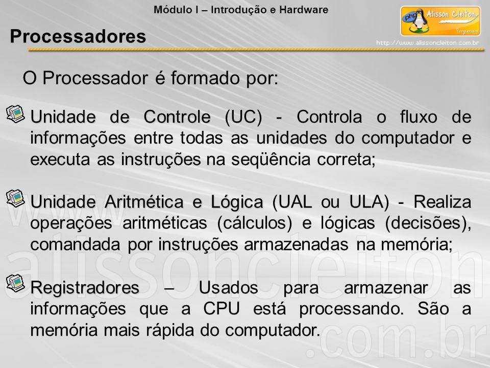 O Processador é formado por:
