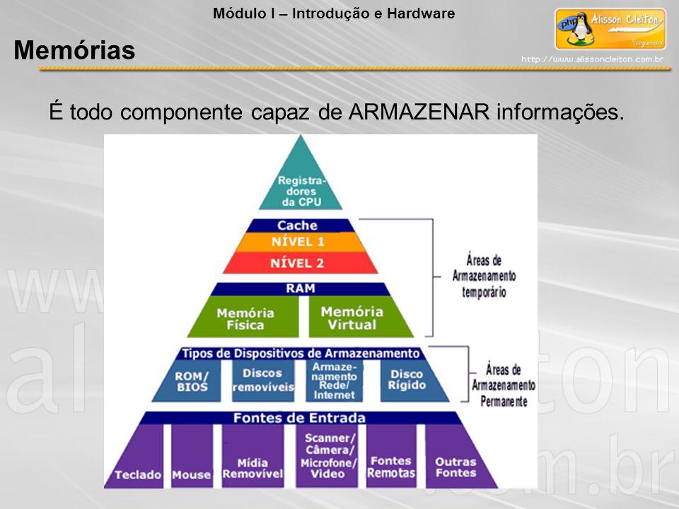 É todo componente capaz de ARMAZENAR informações.