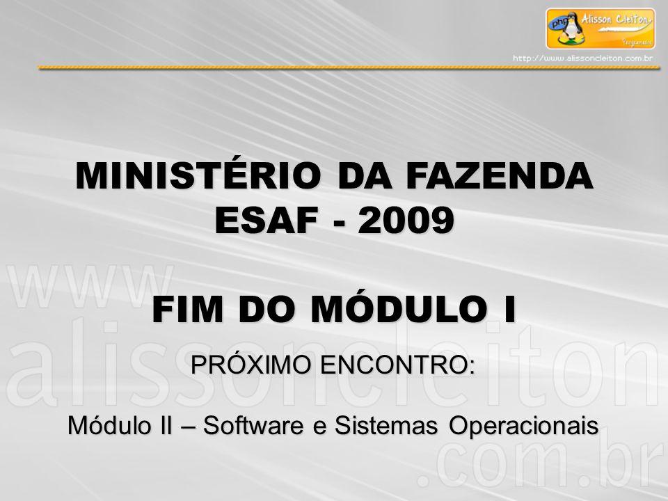 Módulo II – Software e Sistemas Operacionais