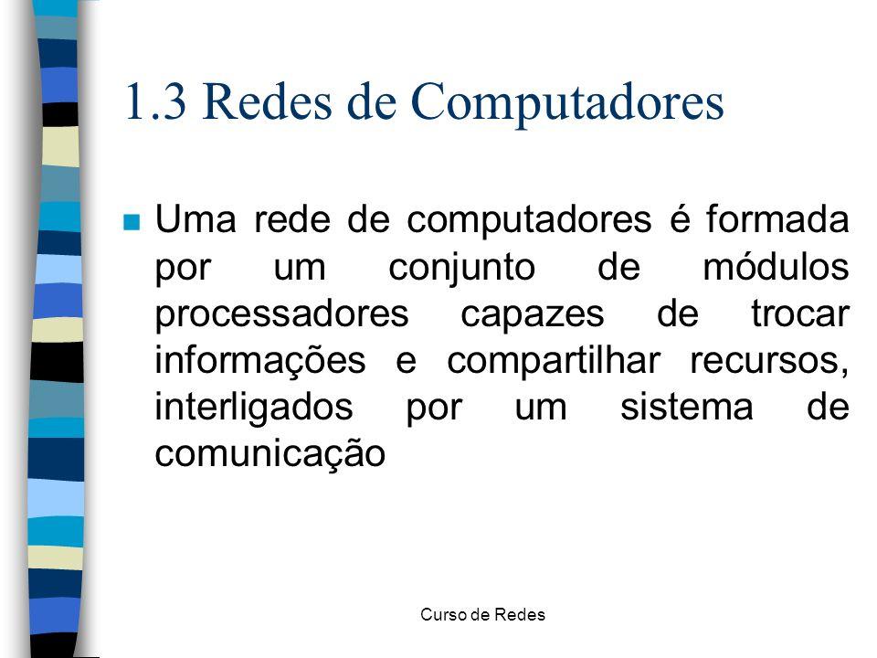 1.3 Redes de Computadores