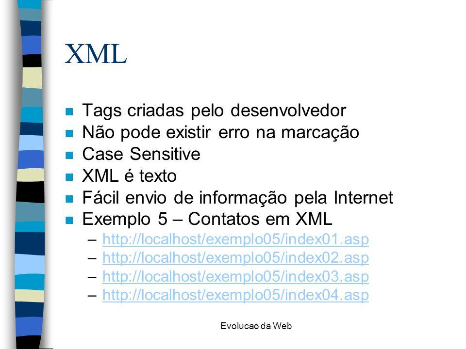 XML Tags criadas pelo desenvolvedor Não pode existir erro na marcação