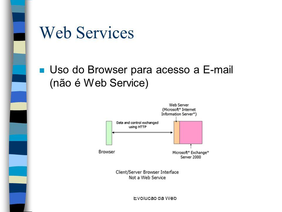 Web Services Uso do Browser para acesso a E-mail (não é Web Service)
