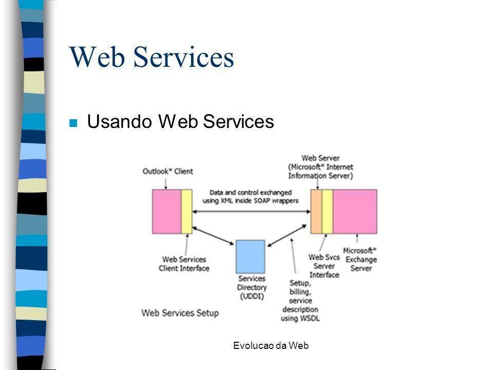 Web Services Usando Web Services Evolucao da Web