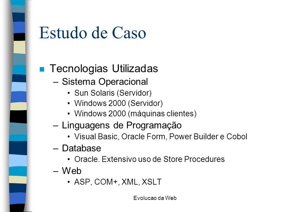 Estudo de Caso Tecnologias Utilizadas Sistema Operacional
