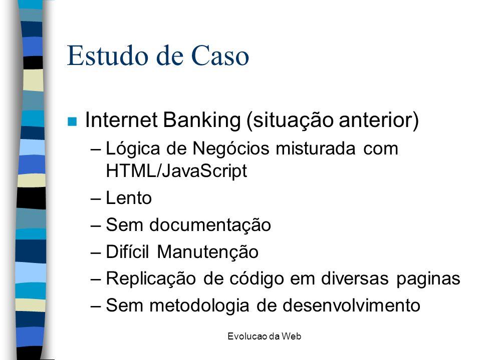 Estudo de Caso Internet Banking (situação anterior)