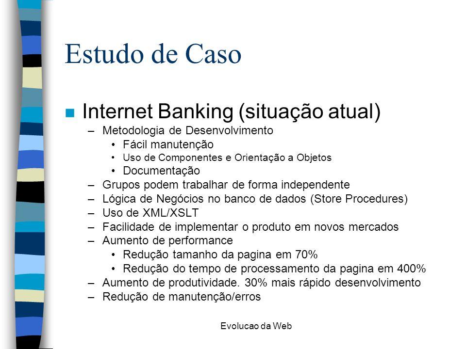 Estudo de Caso Internet Banking (situação atual)