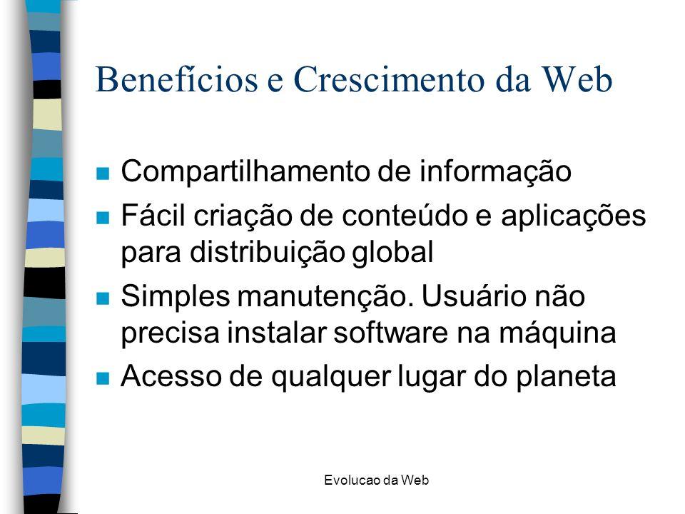 Benefícios e Crescimento da Web