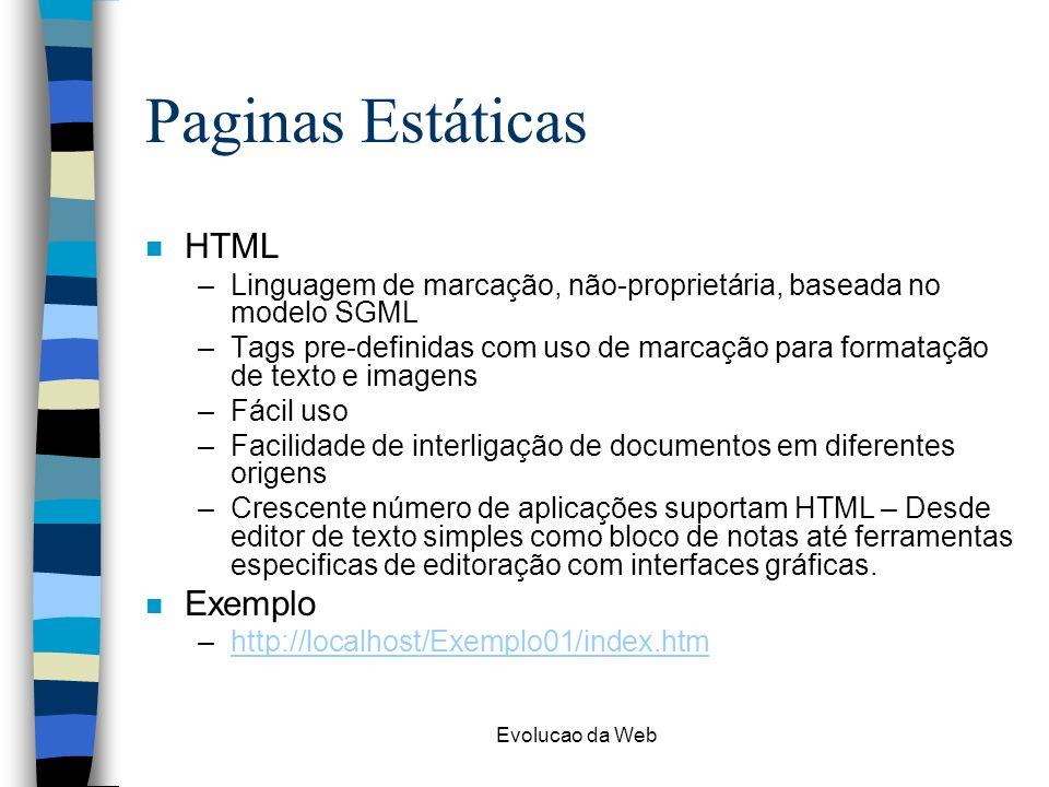 Paginas Estáticas HTML Exemplo