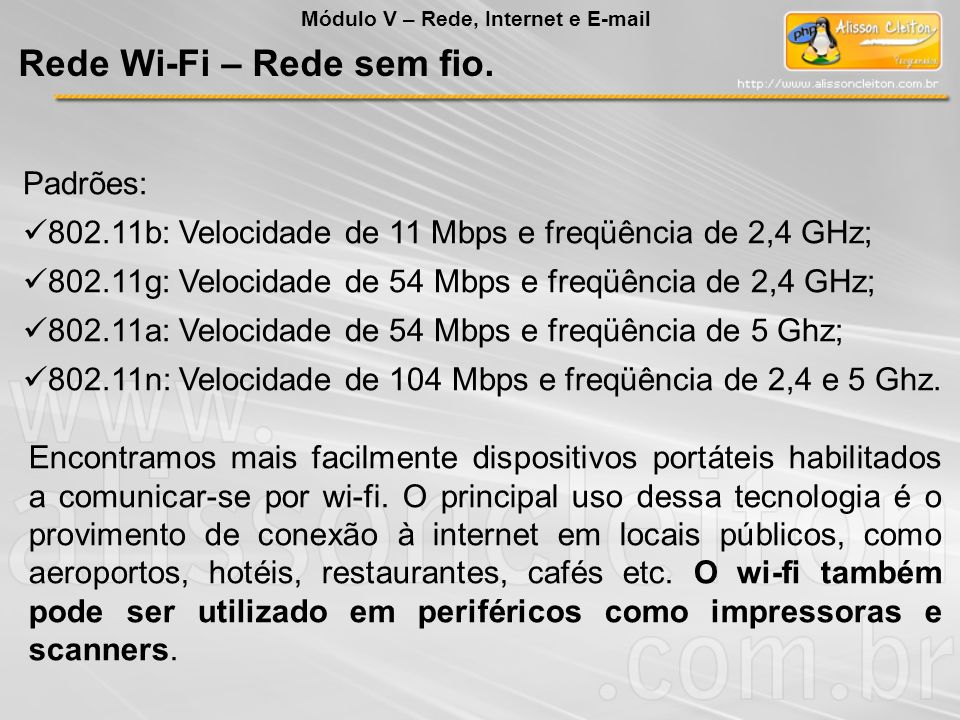 Rede Wi-Fi – Rede sem fio.