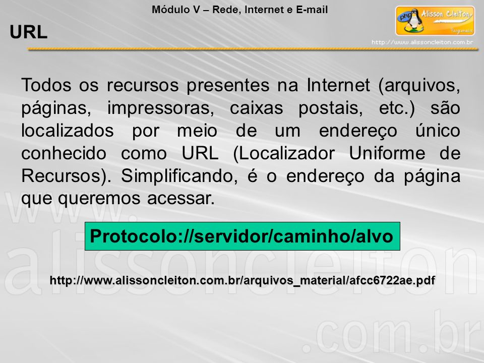 Protocolo://servidor/caminho/alvo