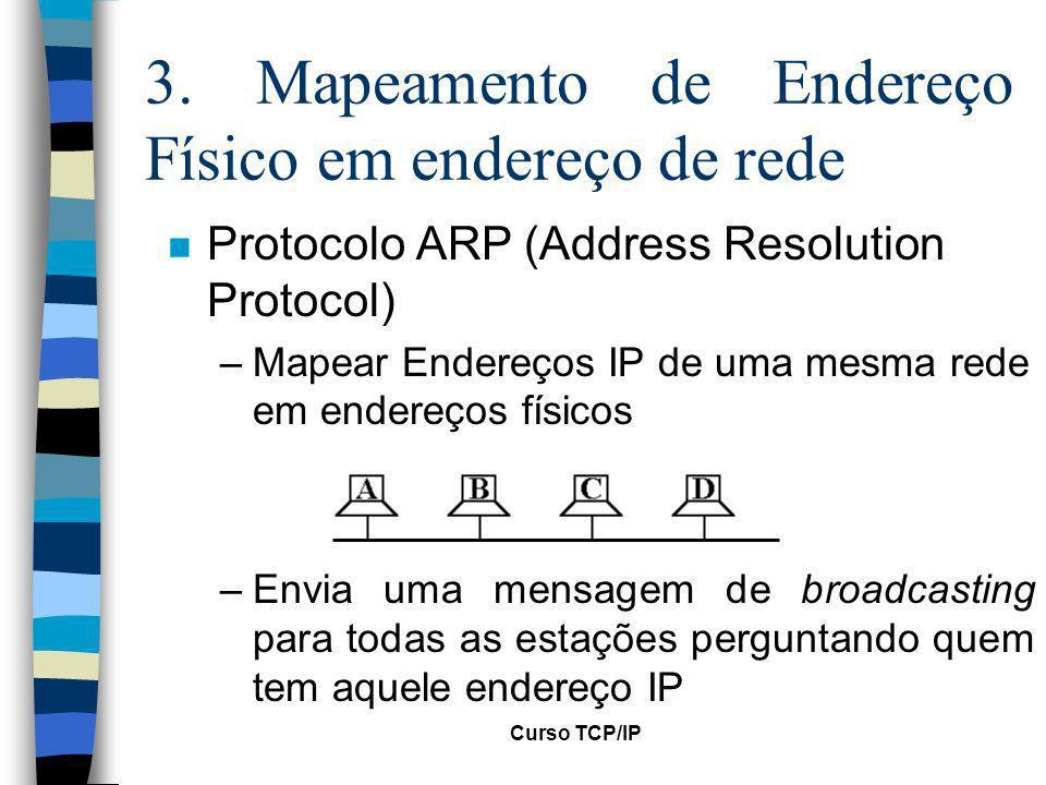 3. Mapeamento de Endereço Físico em endereço de rede