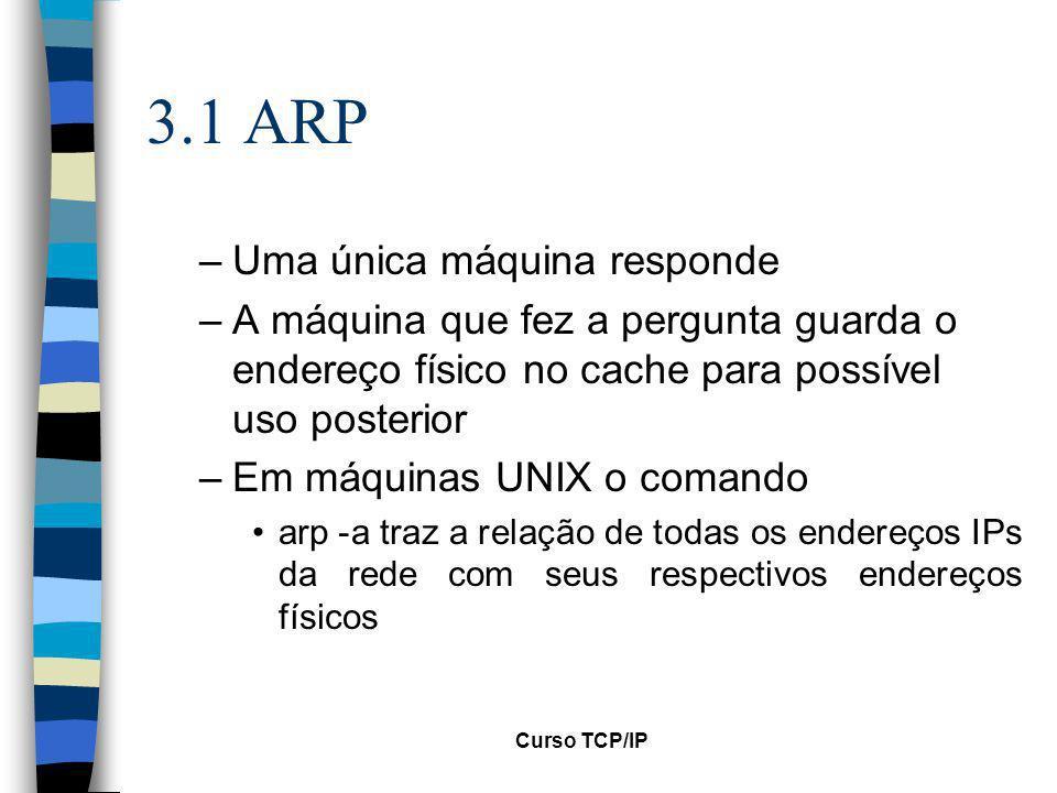 3.1 ARP Uma única máquina responde