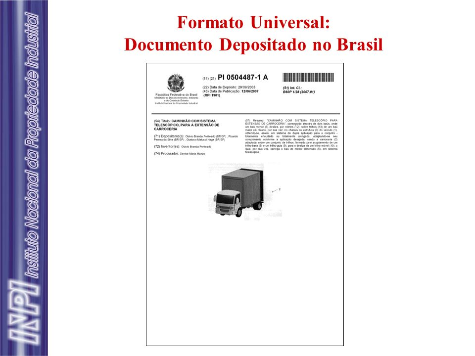 Documento Depositado no Brasil