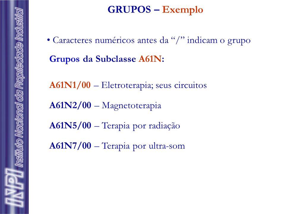 GRUPOS – Exemplo Caracteres numéricos antes da / indicam o grupo