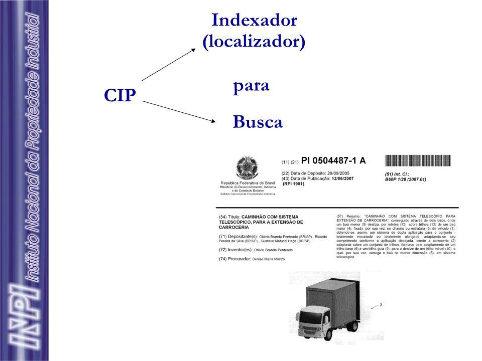 Indexador (localizador) para CIP Busca