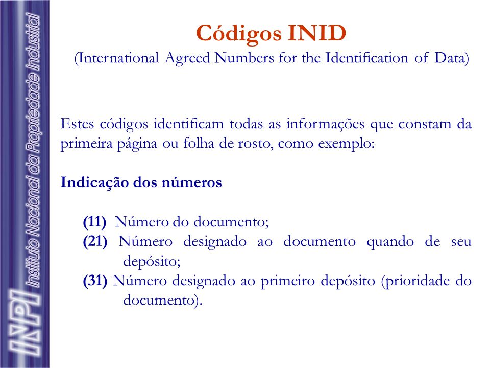 (International Agreed Numbers for the Identification of Data)