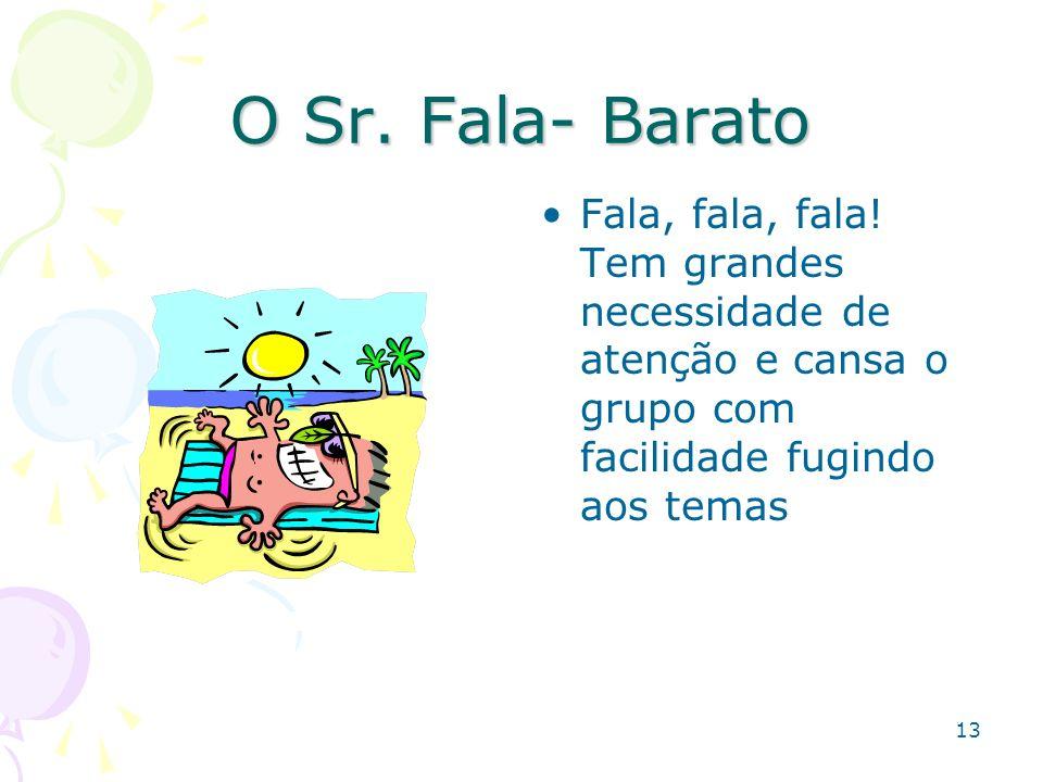 O Sr. Fala- Barato Fala, fala, fala.