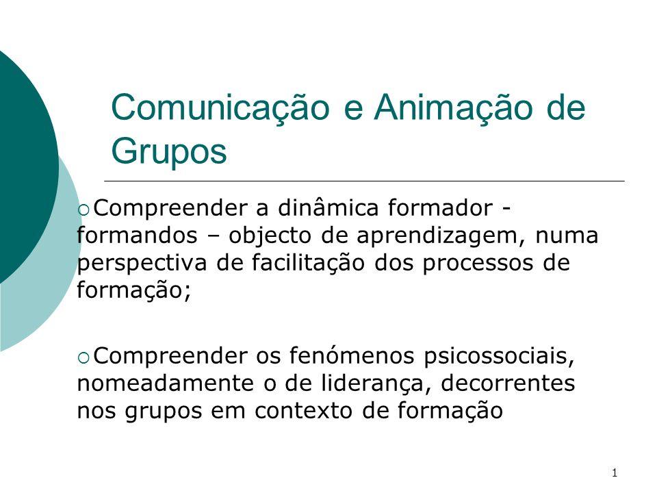Comunicação e Animação de Grupos