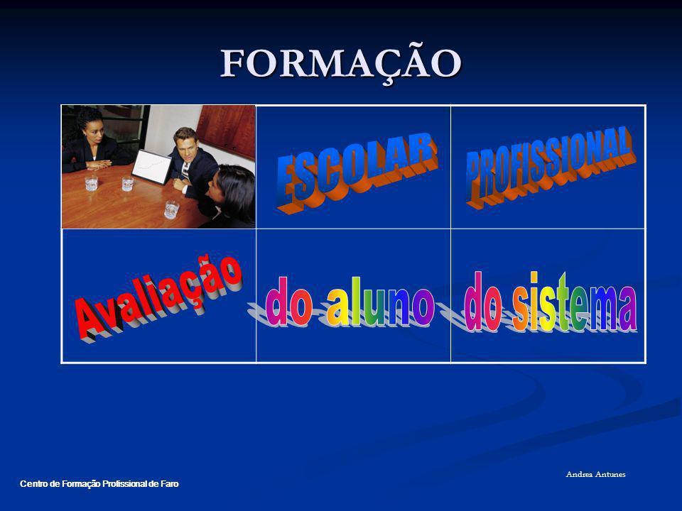 FORMAÇÃO PROFISSIONAL ESCOLAR Avaliação do aluno do sistema