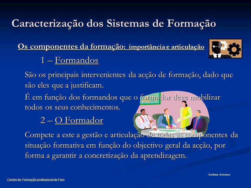 Caracterização dos Sistemas de Formação